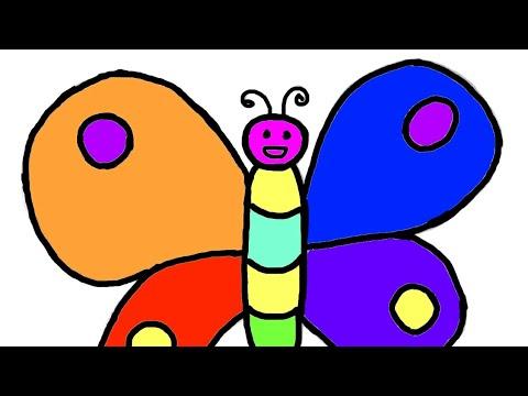 Butterlfy Belajar Menggambar Dan Mewarnai Kupu Kupu Untuk Anak Anak Youtube