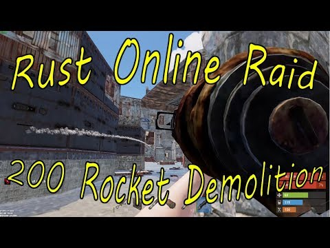 Rust Online Raids #4 - 200 Rocket Demolition