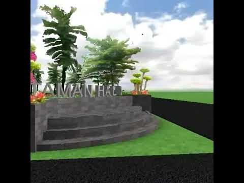 Desain 3d Taman Lingkungan Taman Fasum Lanud Halim Perdana