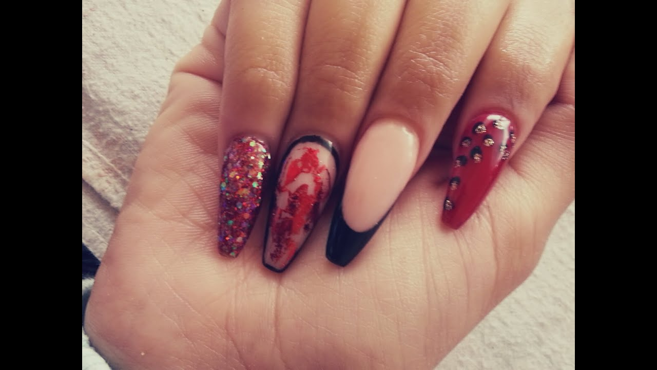 Red Coffin Nail Designs | Best Nail Designs 2018