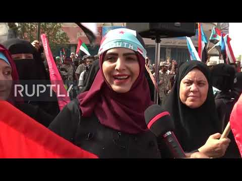Yemen: Thousands demonstrate support for UAE at Aden rally
