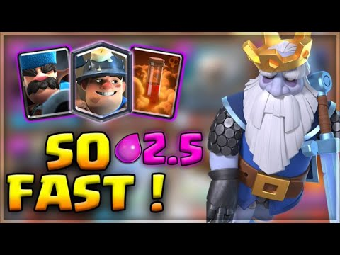 Miner SUPER CYCLE Deck! THE ABSOLUTE BEST DECK I'VE PLAYED IN SO LONG!!