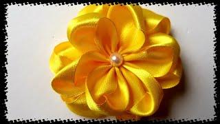 Flor Fácil de Fita de Cetim
