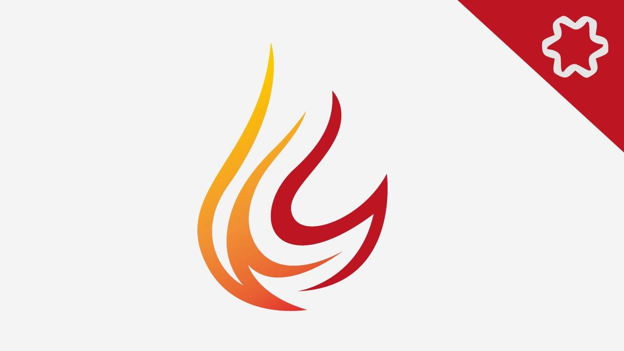 Tutorial Adobe Illustrator For Beginners Simple Flame Fire Logo