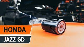 Reemplazar Filtro de aceite para motor HONDA JAZZ: manual de taller