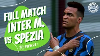 Fifa 21 4k gameplay simulating serie a's fixture for 20th of december 2020 with inter facing spezia at giuseppe meazza stadium.ai difficulty was set to legen...