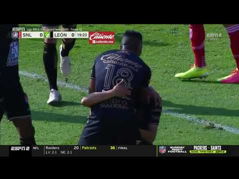 Atletico San Luis 0 - [1] Leon - Angel Mena 20'