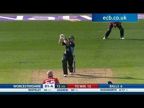 Ross Whiteley wins it with a six! Worcestershire Rapids v Durham Jets