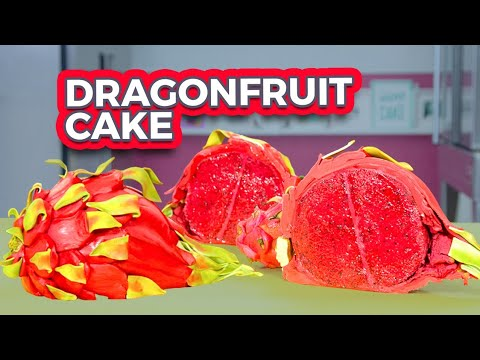 DRAGON FRUIT CAKE!! | How To Cake It