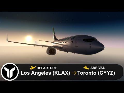 [P3D V4 3] Los Angeles to Toronto (KLAX-CYYZ) | PMDG 737-700 | Westjet |  WJA101