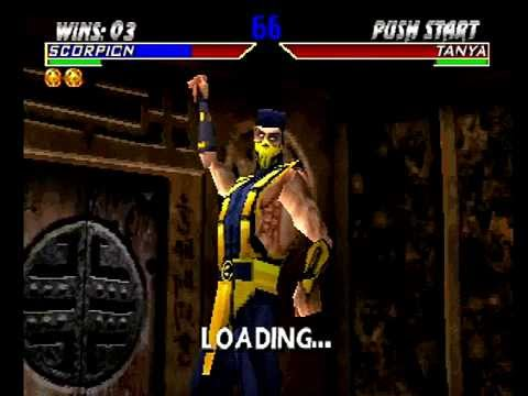 Mortal Kombat 4 (PlayStation) Arcade as Scorpion