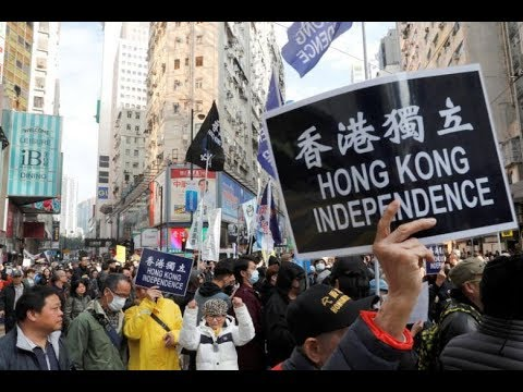 Thousands march in Hong Kong against China 'suppression'