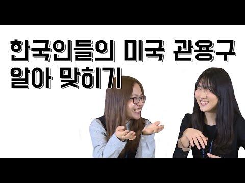 한국인들의 미국 관용구 알아맞히기 (Koreans Guess American Idioms)