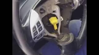 Как восстановить кожаный руль машины Mitsubishi Lancer X10