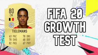Youri tielemans dynamic potential test!! fifa 20