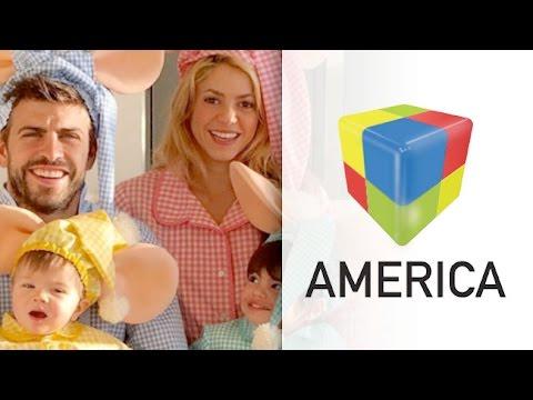 Shakira y Piqué festejaron Halloween en familia y disfrazados como el Topo Gigio