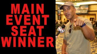 $10,000 WSOP Main Event Seat Winner Revealed!