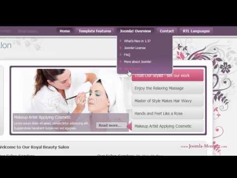 Joomla 1.5 Template: JM Royal Beauty Salon