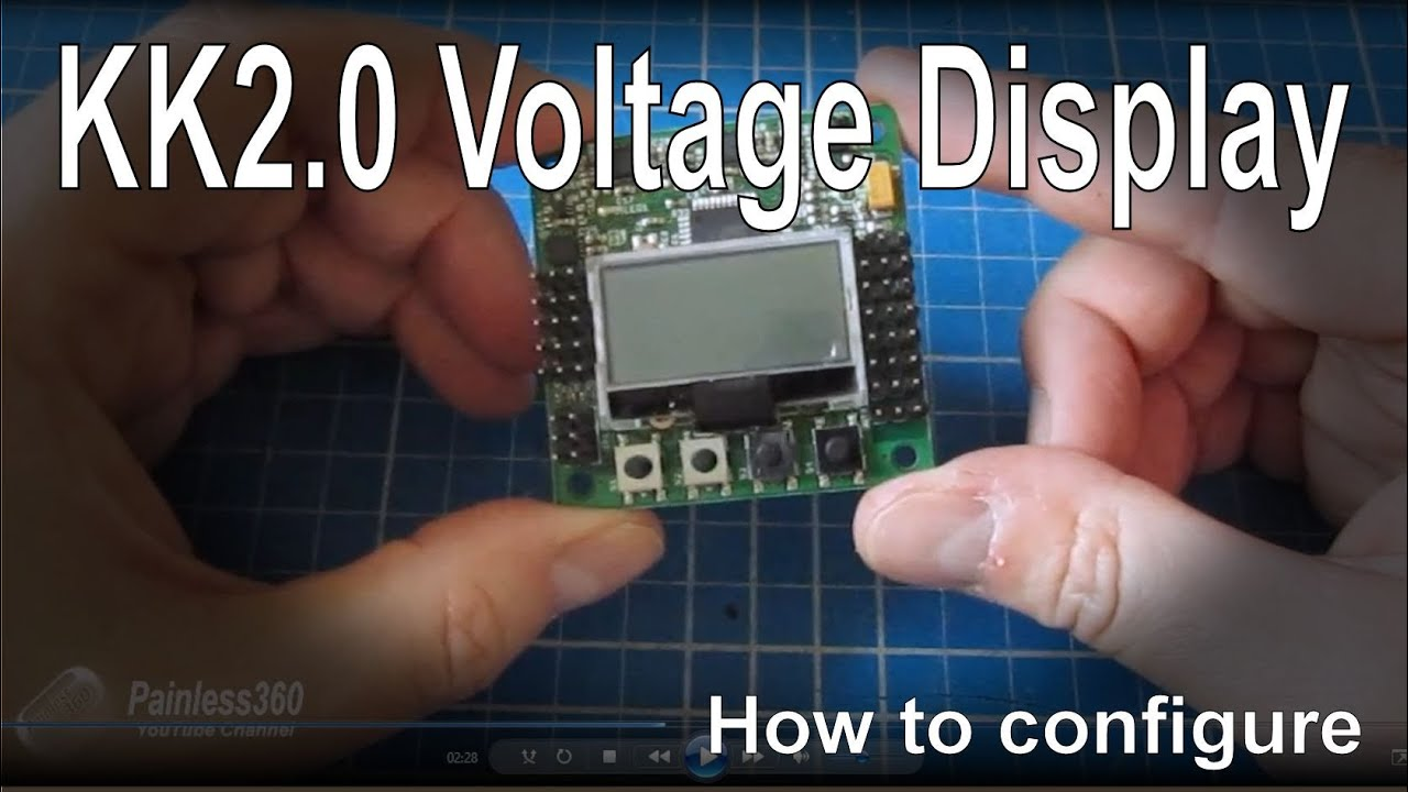 how to setup the kk2 0 board to show the battery voltage lipo quadcopter motor layout kk2 1hc wiring diagram [ 1280 x 720 Pixel ]
