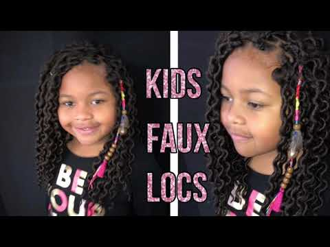 Easy Kids Faux Loc Tutorial On Natural Hair Youtube