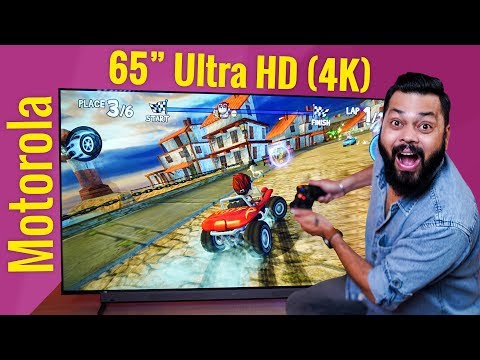 """Motorola 65"""" 4K UHD Android Smart TV Unboxing & First Impressions ⚡⚡⚡ Free GamePad!"""