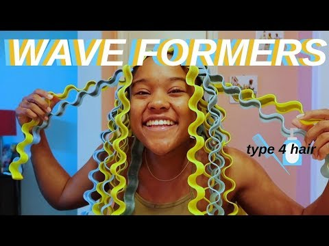 🌊I TRIED WAVE FORMERS ON MY NATURAL HAIR (TYPE 4)