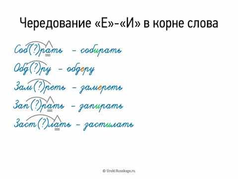 Чередование Е-И в корне слова (5 класс, видеоурок-презентация)