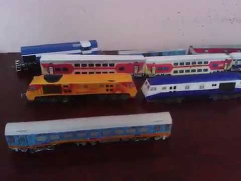 My Indian railways papercraft collection