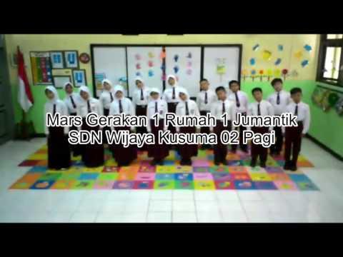Mars Gerakan 1 Rumah 1 Jumantik SDN Wijaya Kusuma 02 pagi