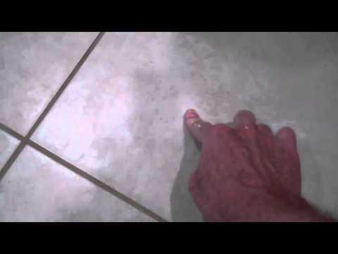 Hiding a Tile Floor Crack