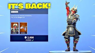 SHOGUN SKIN & BACKSTROKE EMOTE IS BACK! Fortnite ITEM SHOP [January 27, 2019] Fortnite Battle Royale