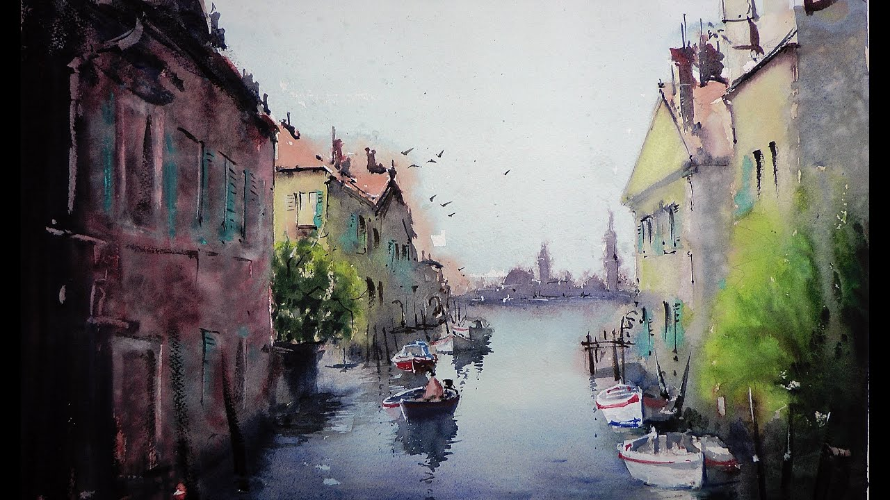 You will see how to do the first wash in watercolor technique
