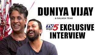 Duniya Vijay And & 39 Salaga& 39 Movie Team Exclusive Interview Dolly Dhananjay TV5 Kannada