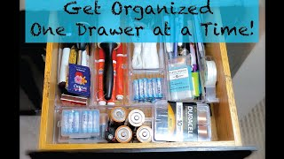 Get organized one drawer at a time!