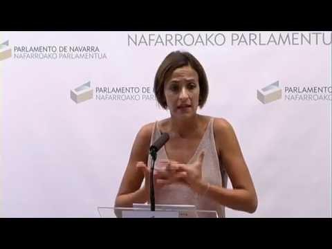 Comparecencia de María Chivite 5-9-16