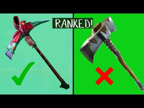 RANKING *EVERY* UNCOMMON PICKAXE IN FORTNITE BATTLE ROYALE