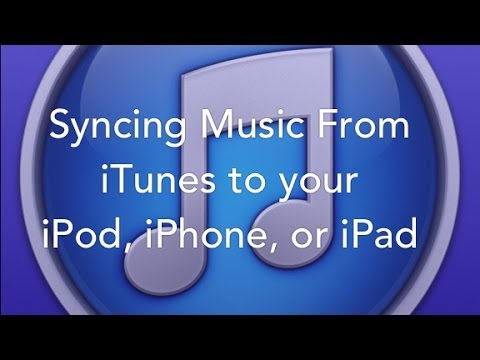 Syncing Music from iTunes to an iPod, iPhone, or iPad
