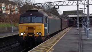 Diesel locomotive 57313 pulling S.R.P.S. Railtours carriages - 9th Dec '13 - Manor Park, London