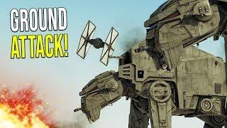 Resistance VS First Order Ground Battle! - Star Wars Empire at War [Yoden Mod]