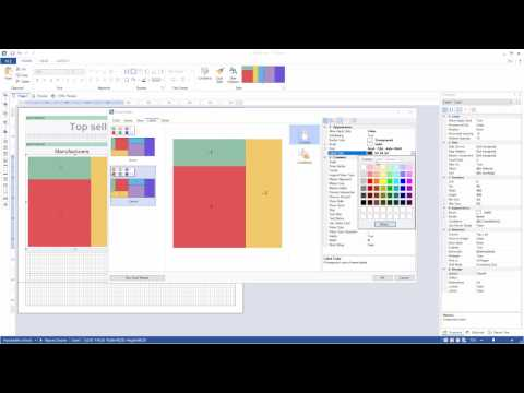 Infographics Tools: Using TreeMap and Clustered Bar Charts in Report