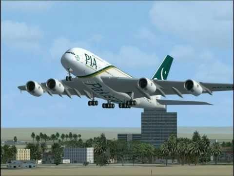 Flight Simulator FSX : A380 Pakistan International - PIA