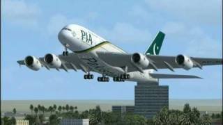 Top 10 Airlines - Flight Simulator FSX : A380 Pakistan International - PIA