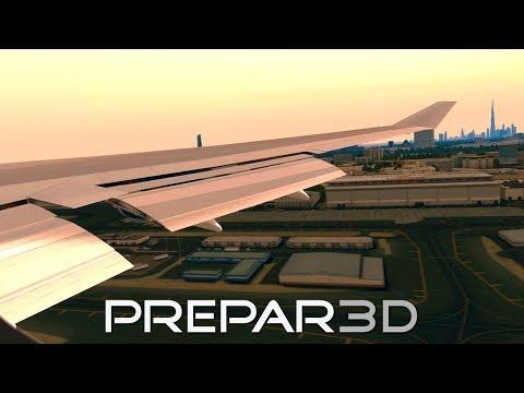 [Prepar3D] PMDG 747 v3 Sunset Landing in Dubai