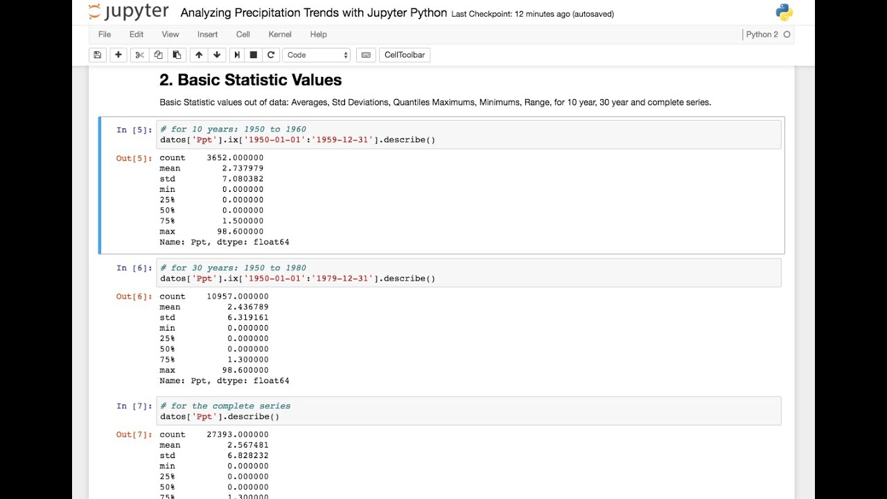 Analysis of Precipitation Trends with Jupyter Python