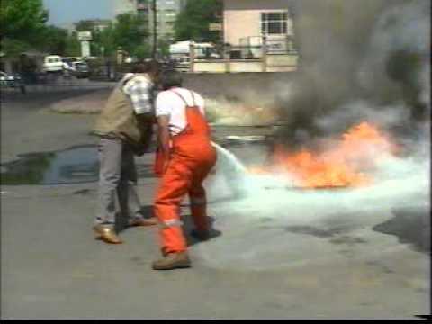 Akaryakıt yangın eğitimi