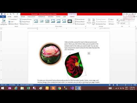 All about MS Word-2013 Part -7 [Picture, Cropping, Alignments,  Resize]