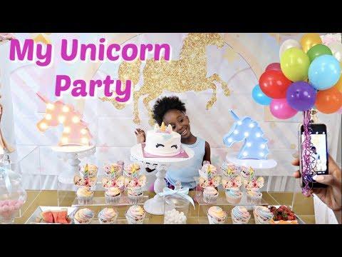 NEVAEH'S BIG UNICORN BIRTHDAY PARTY