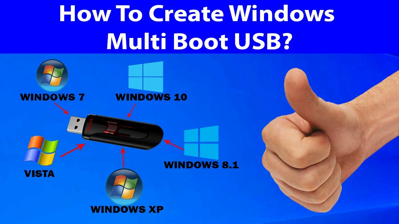 How To Create A Multiboot Windows Usb  Flash Drive