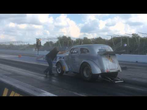 Anglia Gasser - A/GAS Racing Blown BBC '48 Anglia 2014 Tulsa Nitro Nats