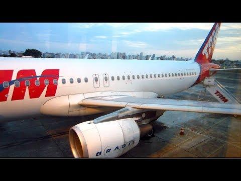 First flight of the day - LATAM A320 SP Congonhas to Rio Galeão